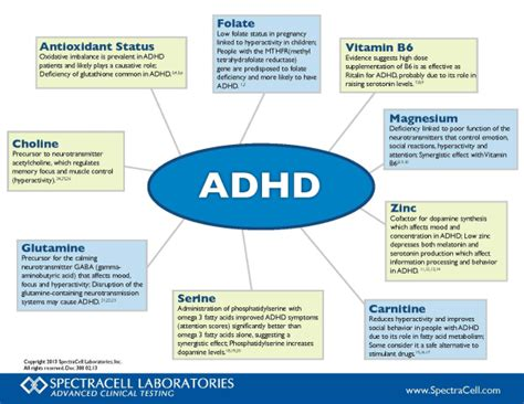 supplement vs medication nutrition correlation chart on adhd