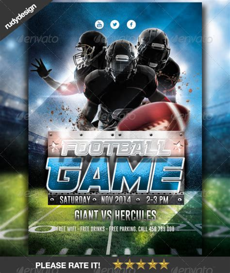 design flyer football american football game flyer design by rudydesign