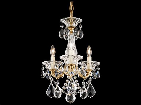 Schonbek Mini Chandelier Schonbek La Scala Three Light 12 Wide Mini Chandelier S55343