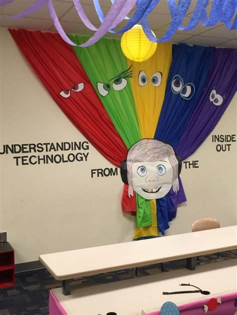 wall decoration disney pixar s quot inside out quot themed classroom carl s class wall