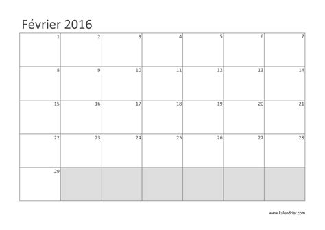 Calendrier 2016 Jours Fériés F 195 169 Vrier 2016 Nombre De Jours