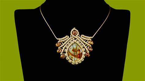 Tutorial Macrame - macram 233 pendant with gemstone tutorial