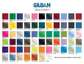 gildan t shirt color chart gildan t shirt color chart 2014