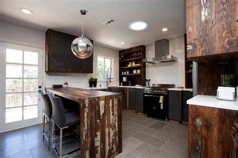 Photos House Hunters Renovation Hgtv Reclaimed Wood Cabinets For Kitchen