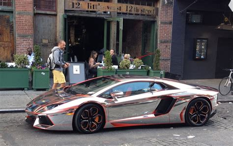 Chrome Lamborghini Nyc Spotted The Winning Chrome Aventador From The Gumball