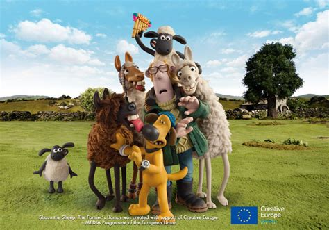 the farmer s look at the farmers llamas and world premiere in the uk shaun the sheep