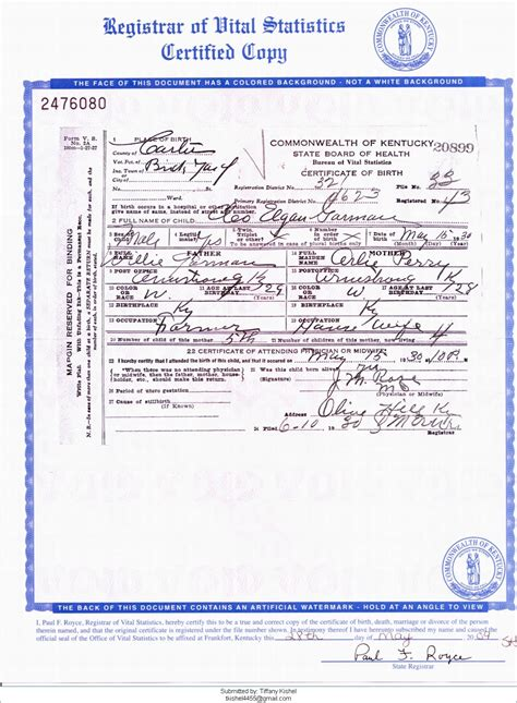 Kentucky Birth Records Index County S Early Birth Records