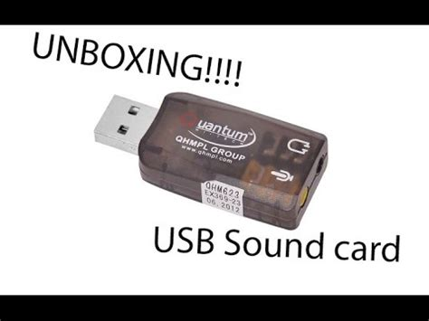 how to make a usb sound card quantum usb sound card unboxing