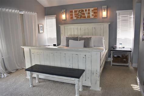 annie sloan bedroom bed  stained  dark walnut