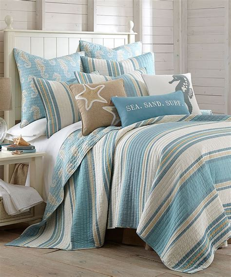 Coastal Bedding Set by Dreamy Beachy Bedrooms With Bedding By Levtex