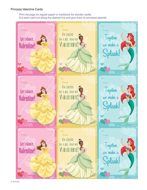 disney valentines day cards disney princess cards enchanted princess and