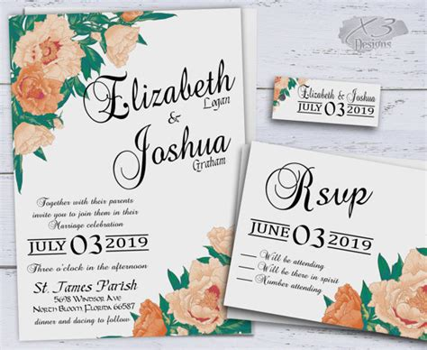 Summer Wedding Invitations by Country Wedding Invitations Printable Summer