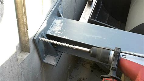 anchor to concrete walls without drilling drilling holes for lower i beam concrete anchors to