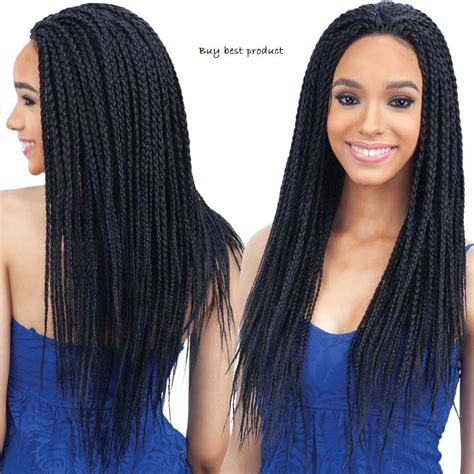 what kind of weave is best for box braids box braid freetress equal synthetic lace front wig color