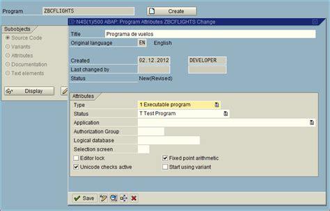 tutorial de sap en español tutorial abap b 225 sico i crear un report blog de sap