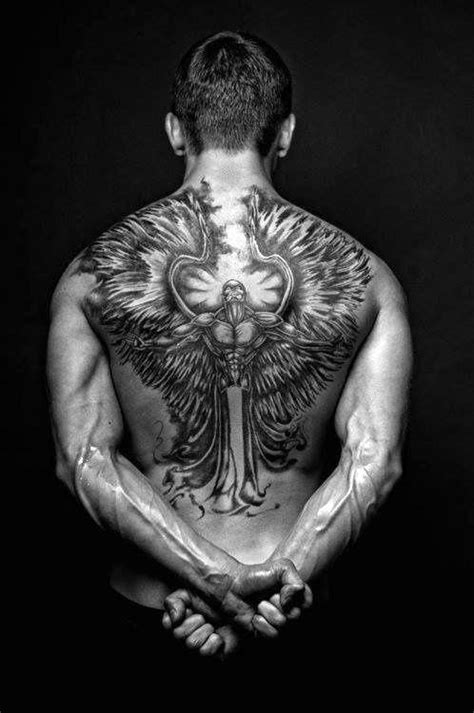 angel tattoo at the back 75 remarkable angel tattoos for men ink ideas with wings