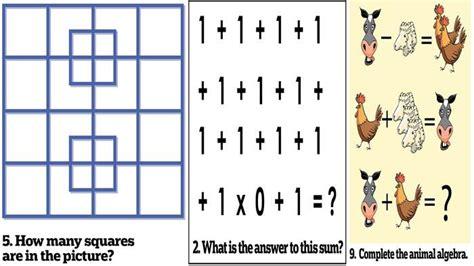 uji kemampuan   permainan asah otak sederhana