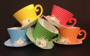 Tea Cup Favors by Cupcake Holder Tea Cups Favors