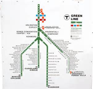 Mbta Green Line Map by Boston Mbta Green Line Map