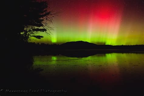 northern lights home massapoag pond photography