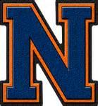 46 Tefity Set 3in1 Royalblue presentation alphabets royal blue orange varsity letter n