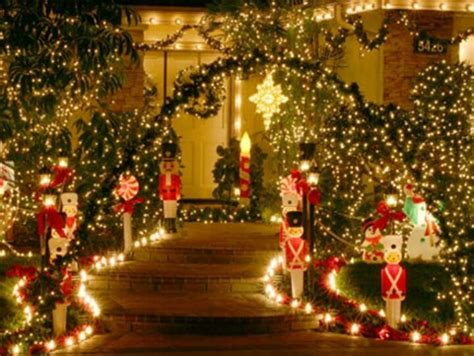 beautiful walkway holiday display christmas lights