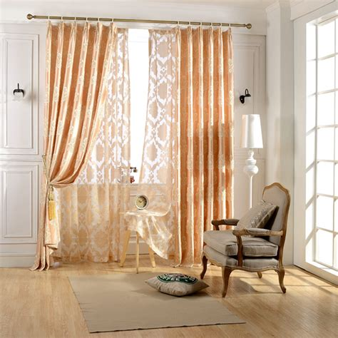 Window Curtains For Living Room by Luxury European Jacquard Light Golden Window Curtain For Living Room