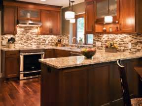 Beautiful Kitchen Backsplash by Brown Transitional Kitchen With Tile Backsplash