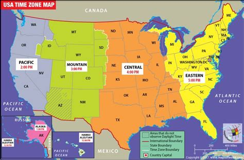 usa time zone converter map timezone