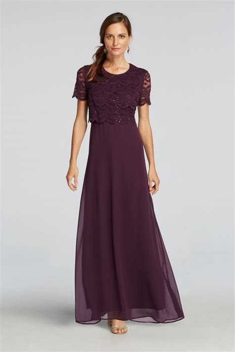 Mock Two Lace Dress sleeved lace sequined mock two dress style