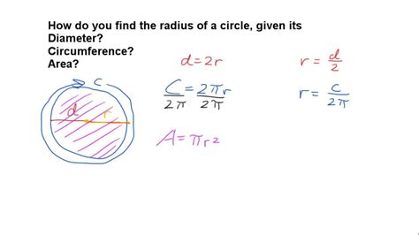 Finding The In How To Find The Radius Of A Circle
