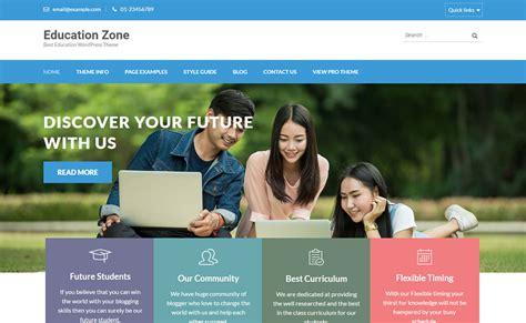 themes education wordpress free download education zone professional education wordpress