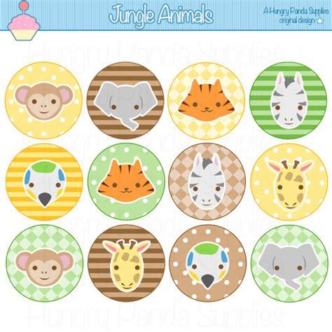 free printable zoo animal cupcake toppers items similar to jungle animals cupcake toppers printable