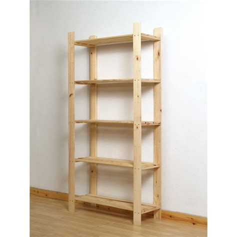 pine shelving units shelf unit pine 5 tier bunnings warehouse
