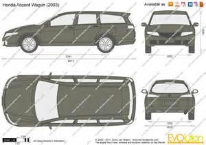 Honda Accord Estate Dimensions The Blueprints Vector Drawing Honda Accord Wagon