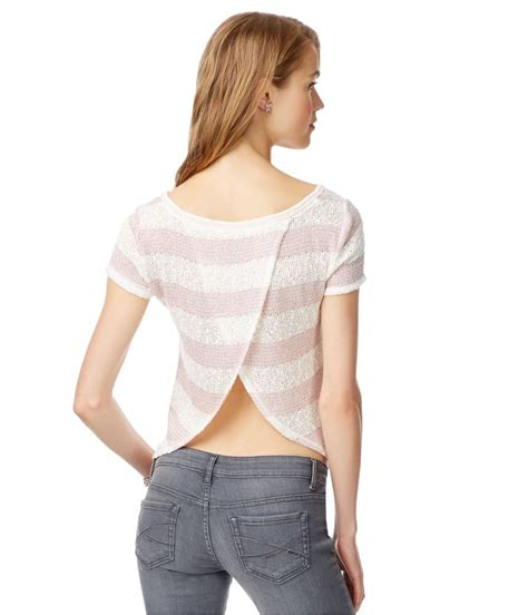 knit blouse aeropostale womens sheer swing back knit blouse ebay