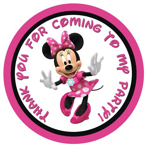 printable minnie mouse name tags minnie mouse gift tags partyexpressinvitations