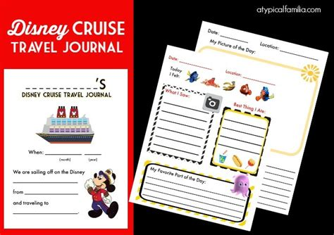 printable disney journal pages disney cruise travel journal for kids free printable