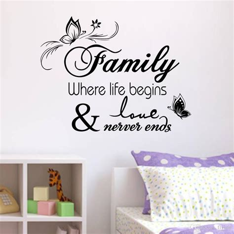 home decor decals family vinyl wall quote decal stickers for home decor wall