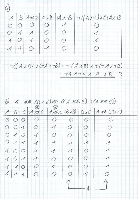 Xor Table by Table Logic Xor Mathematics Stack Exchange