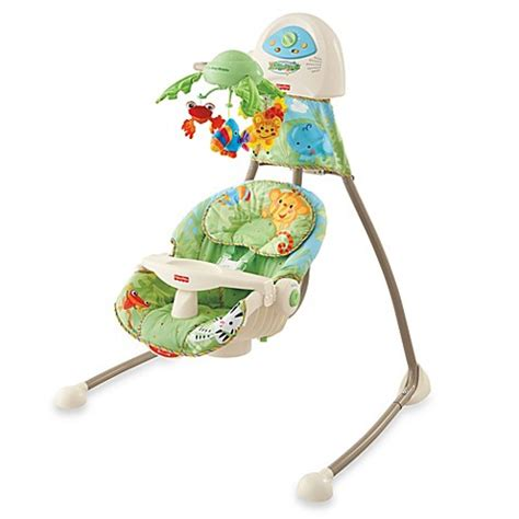 fisher price swing chair rainforest buy fisher price 174 rain forest open top cradle swing from