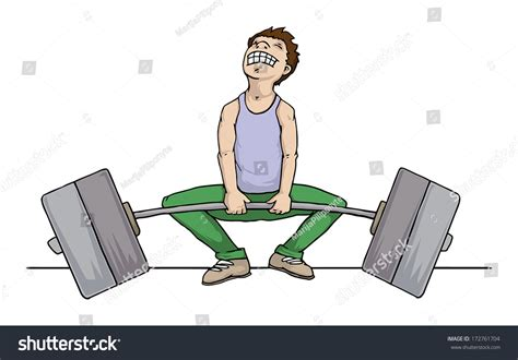 How To Up Someone Who Is A Heavy Sleeper by Trying To Lift Heavy Weight But Fails Vector