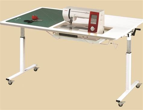 tasmanian ii height adjustable table arrow sewing cabinets