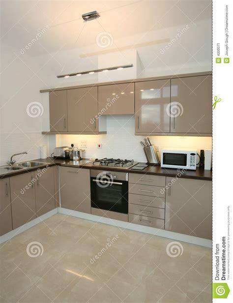 Modern Luxury Home Kitchen Interior Stock Image   Image