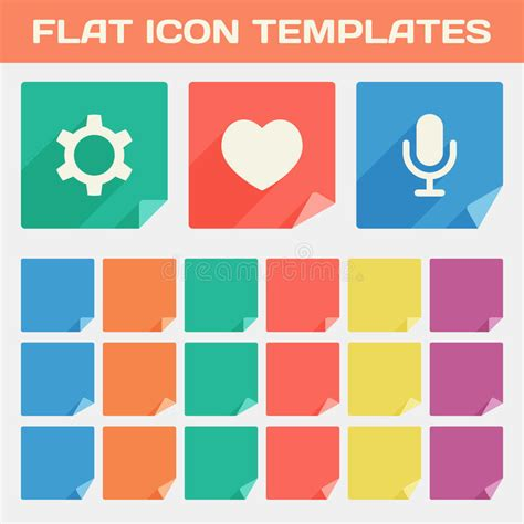 trendy templates trendy flat app icon templates with different folded