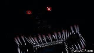 Nightmare jumpscare fnaf 4 shadow animatronic on make a gif