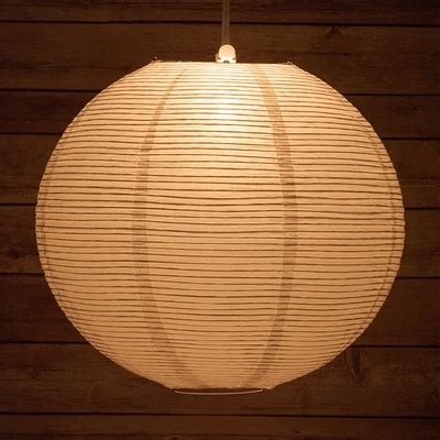 Paper Lantern White 16 quot white line premium even ribbing paper lantern