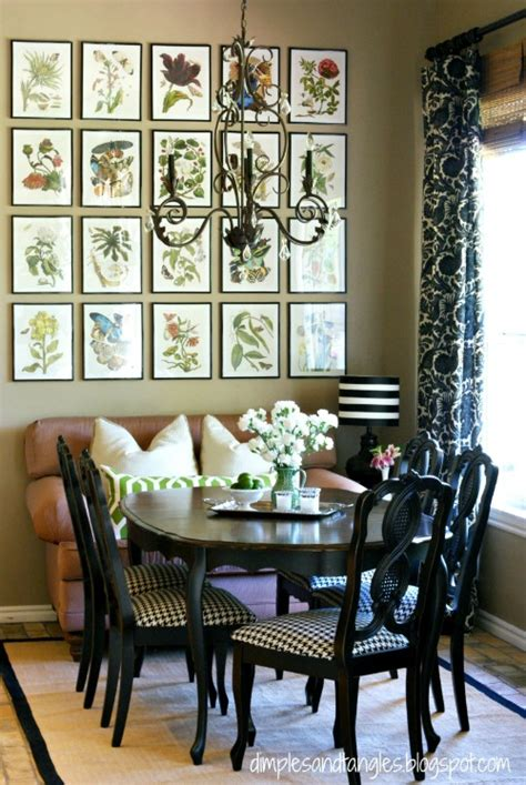 breakfast nook art calendars as a source of inexpensive art driven by decor
