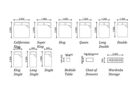 bedroom furniture dimensions interior design