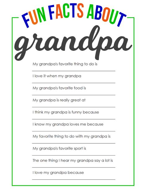 Fun Facts About Grandpa The Girl Creative
